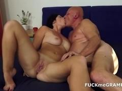 horny grandpa fucks curvy girl